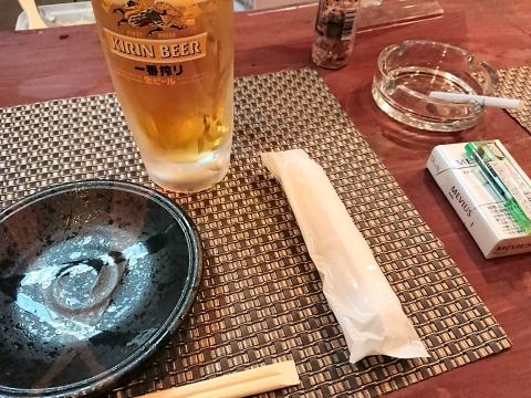 生ビール(キリン一番搾り)@うろこ屋
