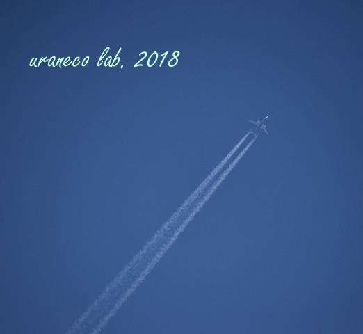 4月24日飛行機雲