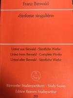 15年か20年前に中古で買ったベルワルトの交響曲第3番の楽譜表紙