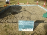 砂の篩い掛け後