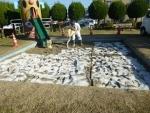 抗菌砂トキサンドクリーン、散布