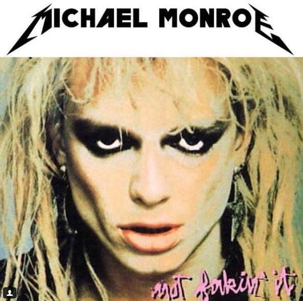 Michael Monroe Metallica logo マイケル モンロー メタリカ