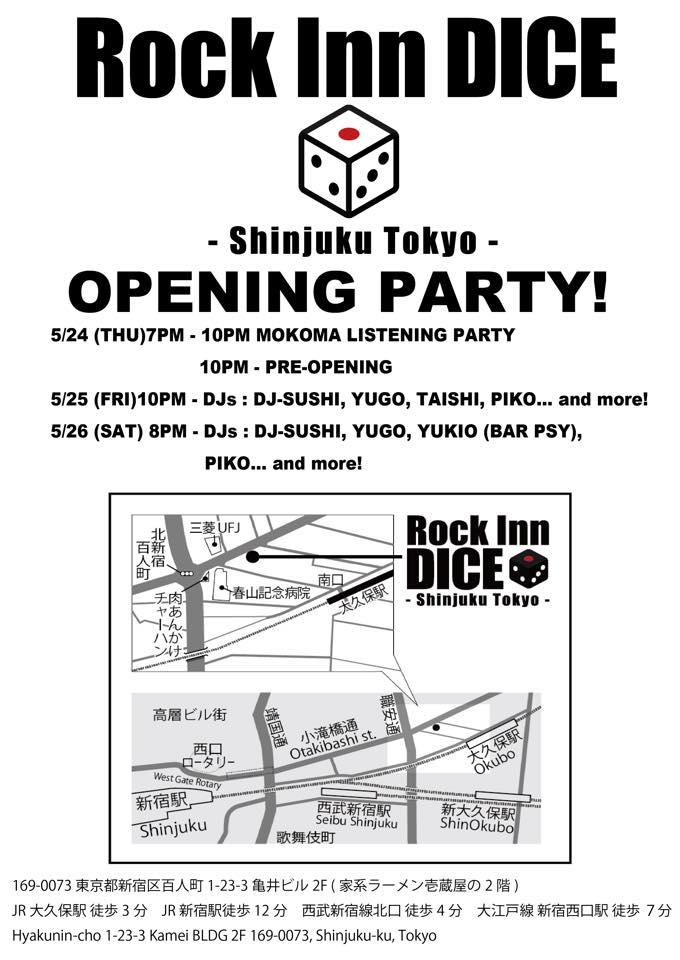 Rock Inn Dice Tokyo