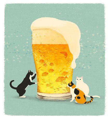 ビールと 猫