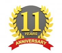 11周年記念ロゴクリア