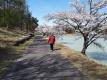 明神池でリハビリ