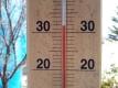 デッキの温度計