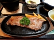 平庭山荘の短角牛のステーキ