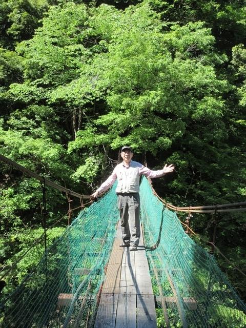 板取キャンプ場の吊橋7