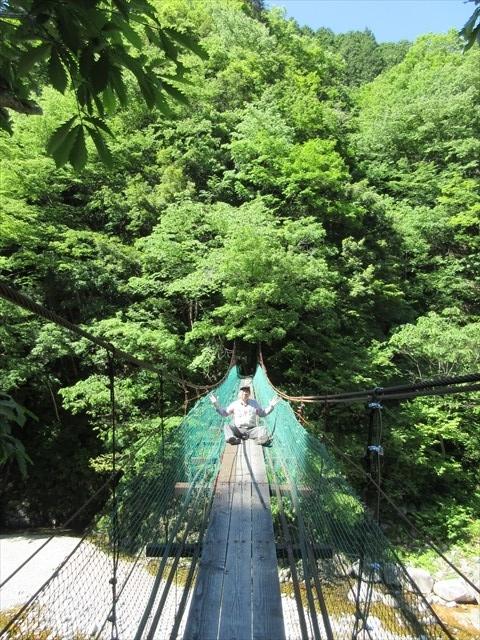 板取キャンプ場の吊橋6