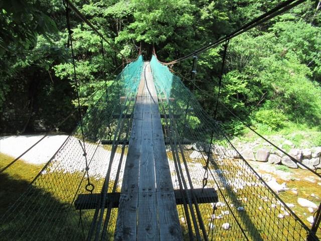 板取キャンプ場の吊橋8