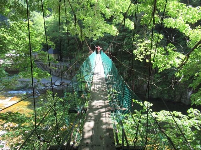 板取キャンプ場の吊橋9