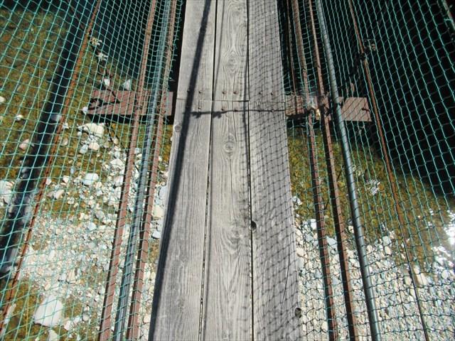 板取キャンプ場の吊橋0