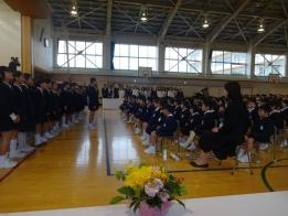 田上小学校の入学式