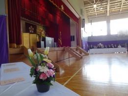 竹山新PTA会長の激励と歓迎の挨拶