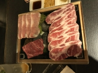 豚肉とビーフステーキ180407