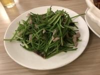 水蓮豚肉炒め180425