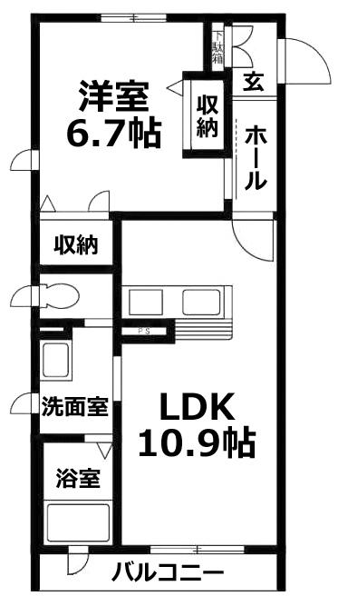 ■物件番号5346 駅も海も徒歩9分!オートロック付マンション!2階カド!築浅キレイ!海側1LDK!
