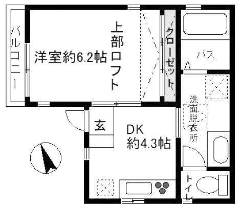 ■物件番号5354 駅8分!海10分!サザン通り沿い!1DK+ロフト!2階カド部屋!6.8万円!