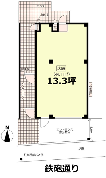■物件番号T5416(事業用)鉄砲通り沿い!1階路面店!美容室始めませんか?P2台有り!海側!