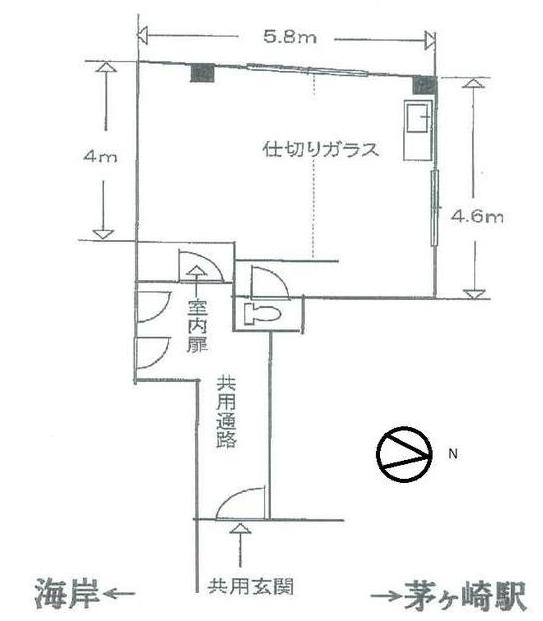 ■物件番号T5353 貸店舗6.5万円!雄三通り沿い!1階部分!駅9分!海7分!