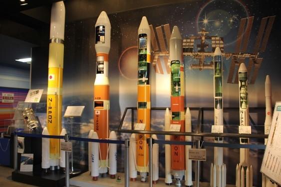 模擬ロケットの展示