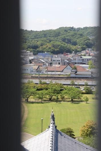 三重櫓からの白河駅