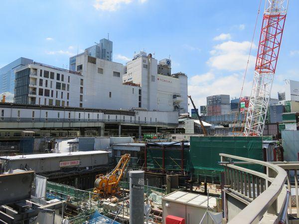 東横線ホームの残骸の撤去が完了した渋谷スクランブルスクエア予定地。