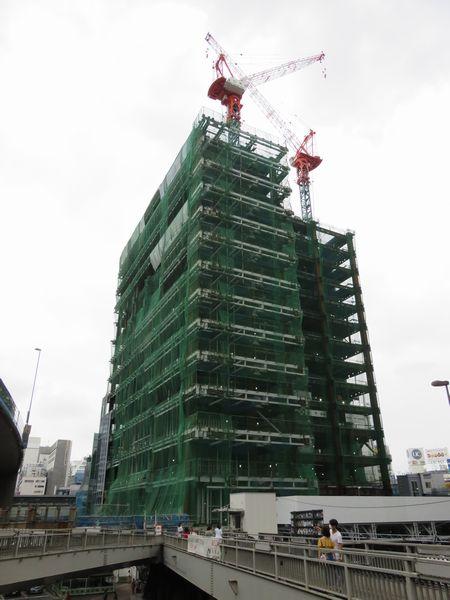 着々と建設が進む渋谷スクランブルスクエア。