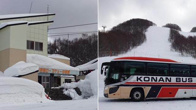6樹氷観光バスと八甲田ロープウェイ駅