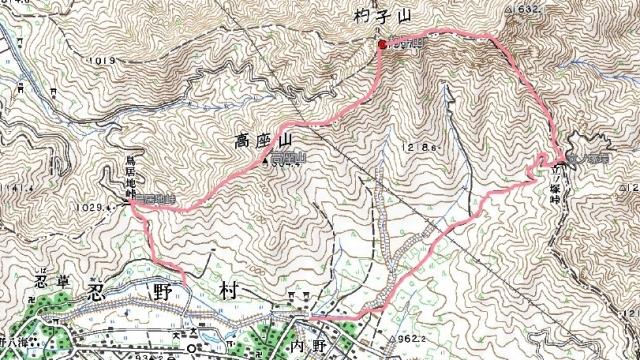 2杓子山地図