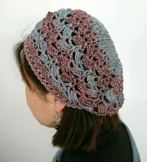 シェル模様のベレー帽