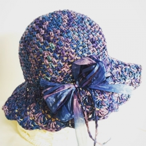 松編み帽子②