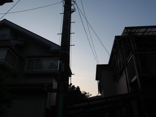20180515・夕焼けと飛行機雲01