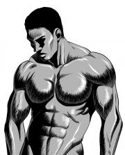 ヌードモデルP27P35の黒人