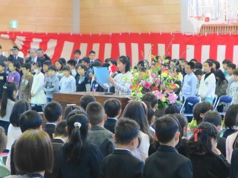 「石岡市立東小学校」入学式⑥