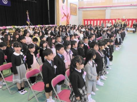 「石岡市立東小学校」入学式⑧