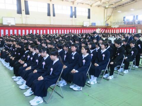 「石岡中学校入学式」③