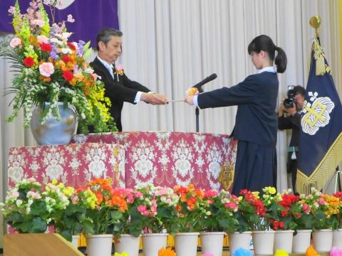 「石岡中学校入学式」⑦