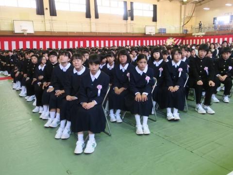 「石岡中学校入学式」⑧