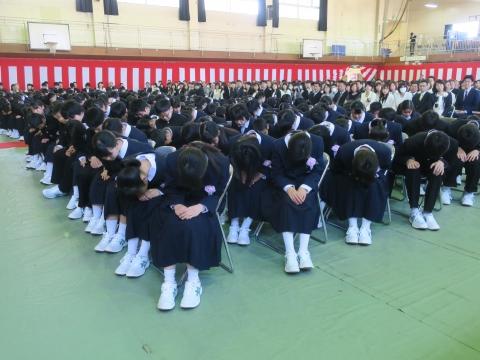 「石岡中学校入学式」⑨