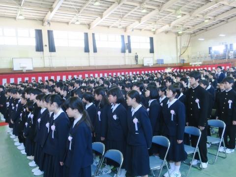 「石岡中学校入学式」⑩