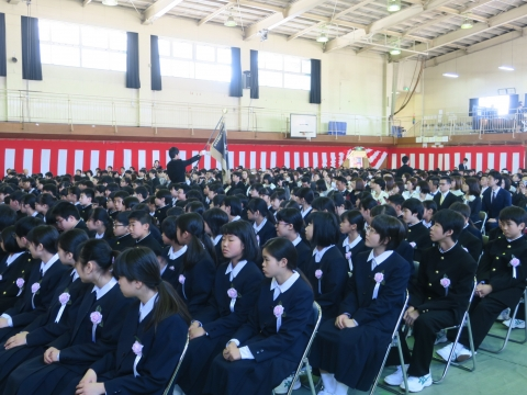 「石岡中学校入学式」⑫