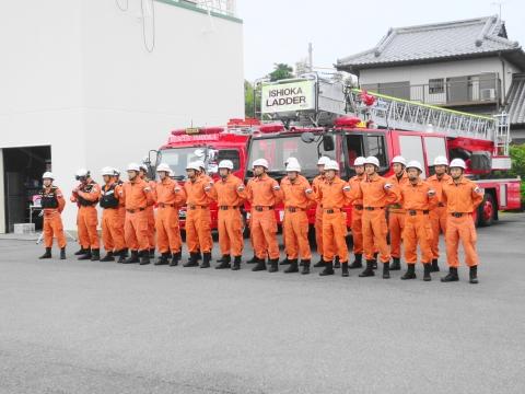 「石岡市消防本部救助訓練査閲」④