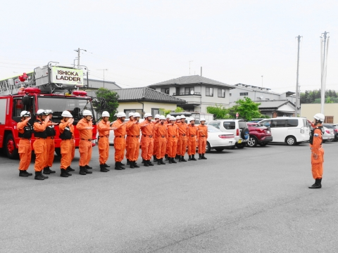 「石岡市消防本部救助訓練査閲」⑤