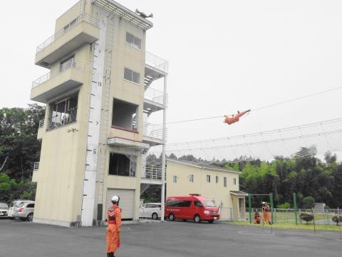 「石岡市消防本部救助訓練査閲」⑥