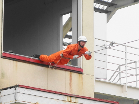「石岡市消防本部救助訓練査閲」⑦
