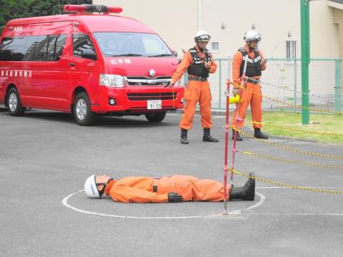 「石岡市消防本部救助訓練査閲」⑨