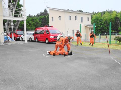 「石岡市消防本部救助訓練査閲」⑬