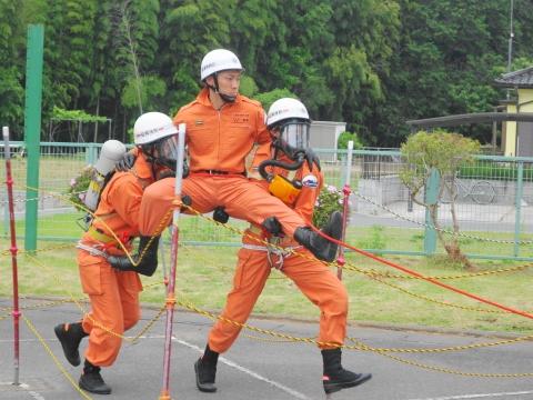 「石岡市消防本部救助訓練査閲」⑭